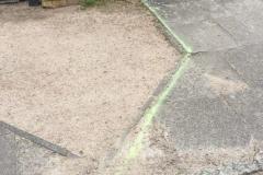 Linke Markierung vom Wegewart zur Auffahrt