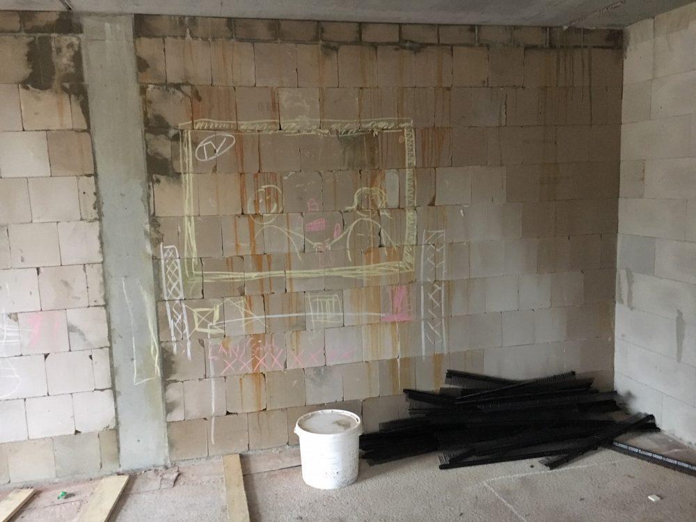 Bautrocknung Wohnzimmerwand: Feuchtigkeit & Flecken