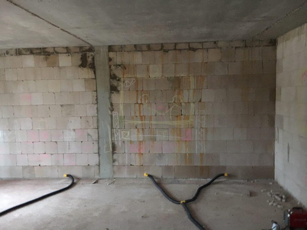 Bautrocknung Rohbau: Feuchtigkeit im Wohnzimmer